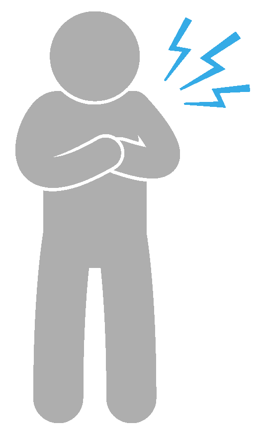 Icon of person experiencing chest pain