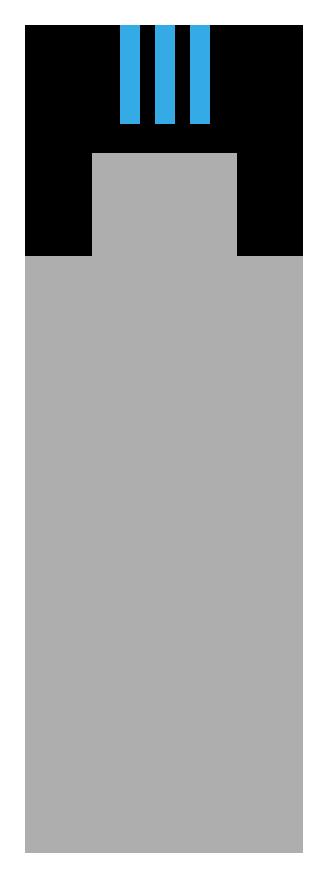 Icon depicting a sick person