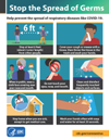 Thumbnail of 'Stop the spread of germs' poster