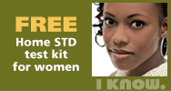 Free Home STD test kit for women